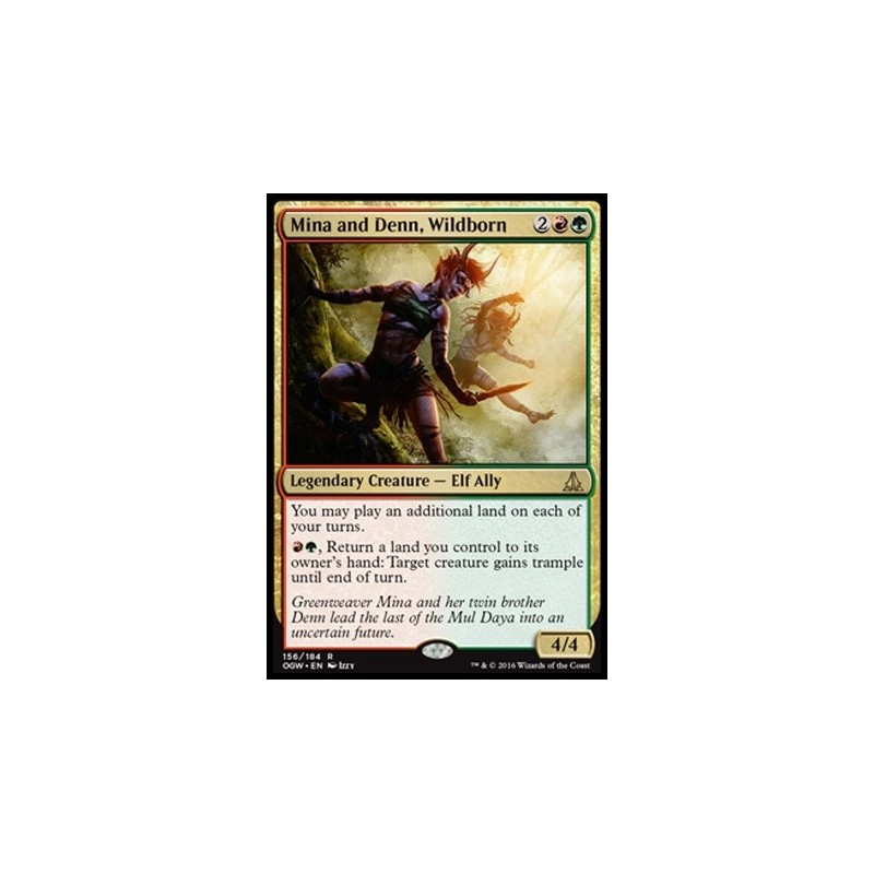 Foil x1 Magic the Gathering 1x Oath of the Gatewatch m Wildborn Mina and Denn